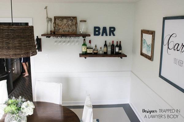 Bar shelves