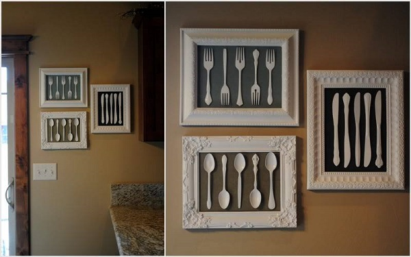 framed silverware