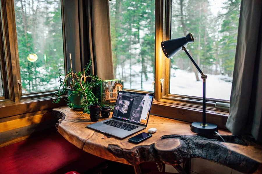 home office natural light