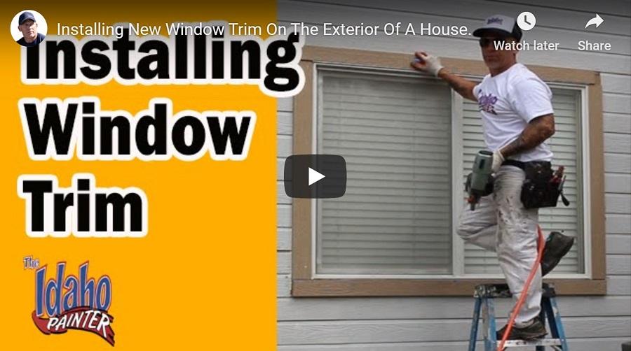 how to trim a window exterior