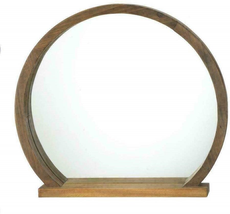 round with shelf