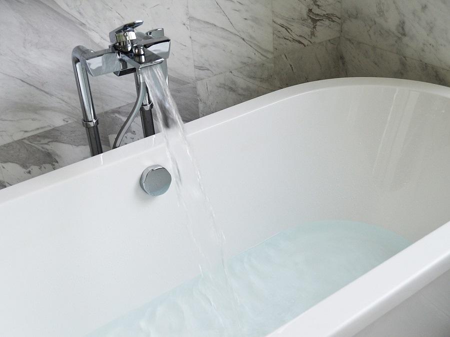 bathtub water