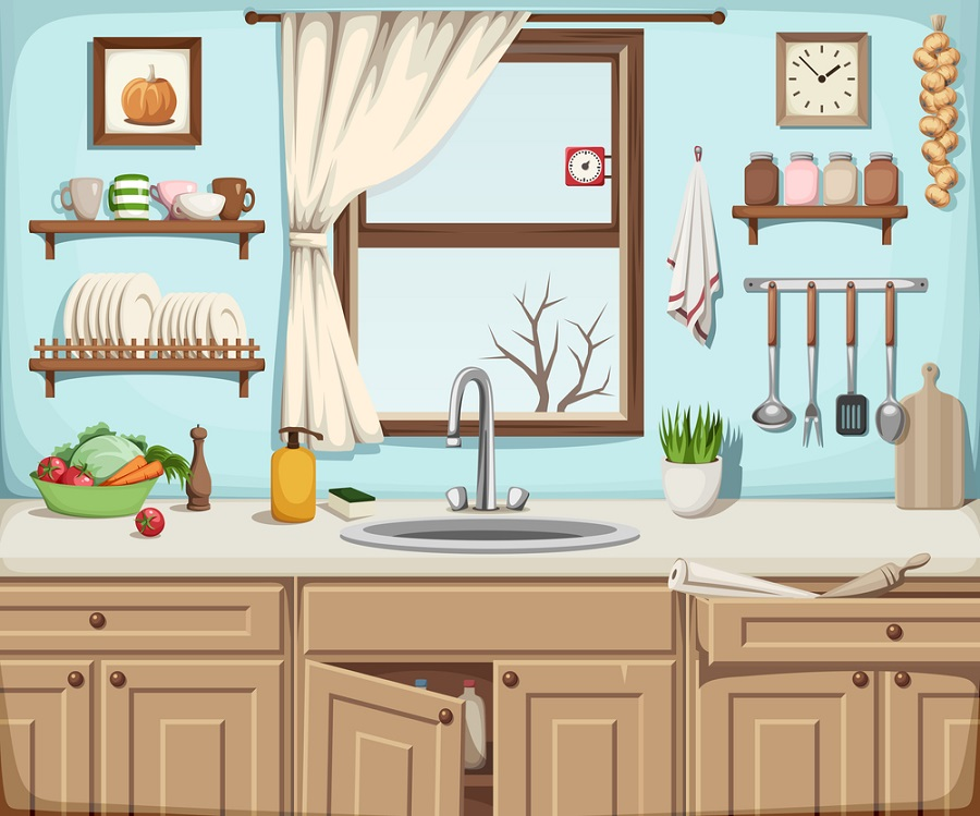 kitchen sink illustration