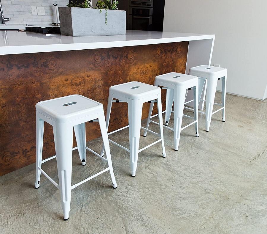 white bar stools