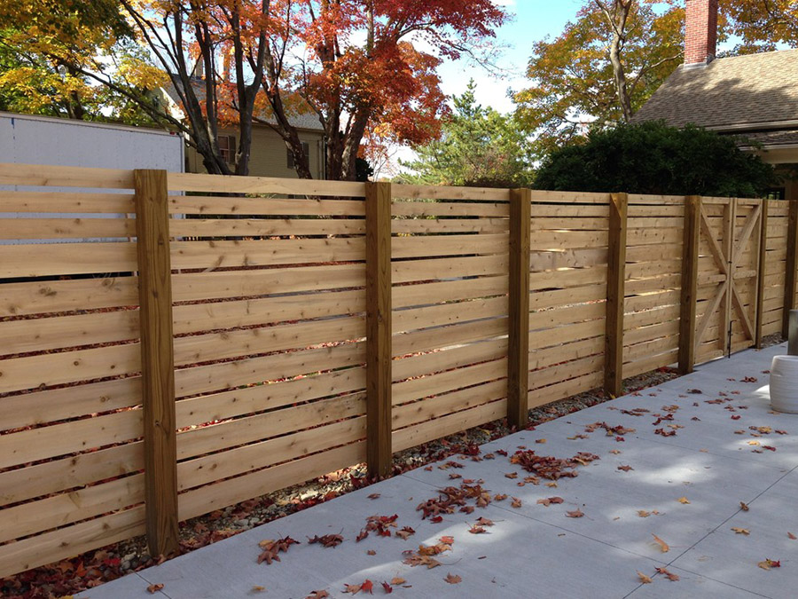 Modern privacy screen fence
