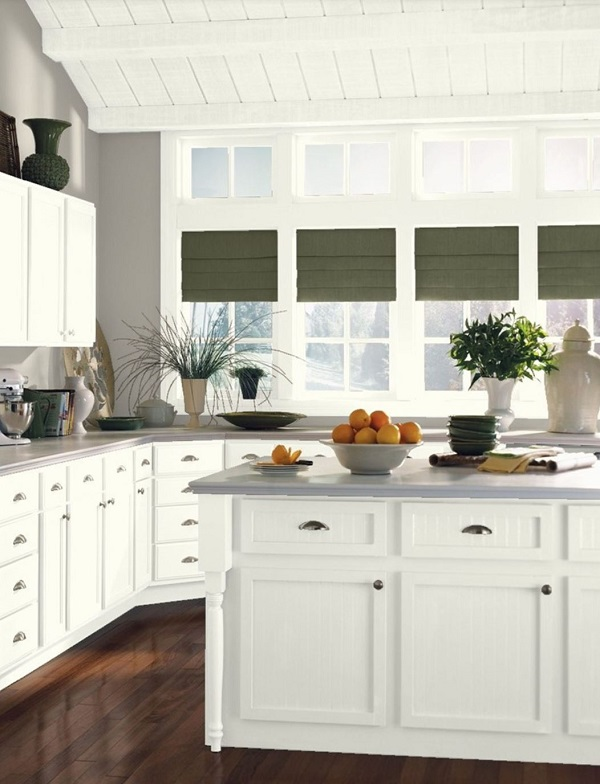 Benjamin Moore Cloud White Kitchen Cabinets