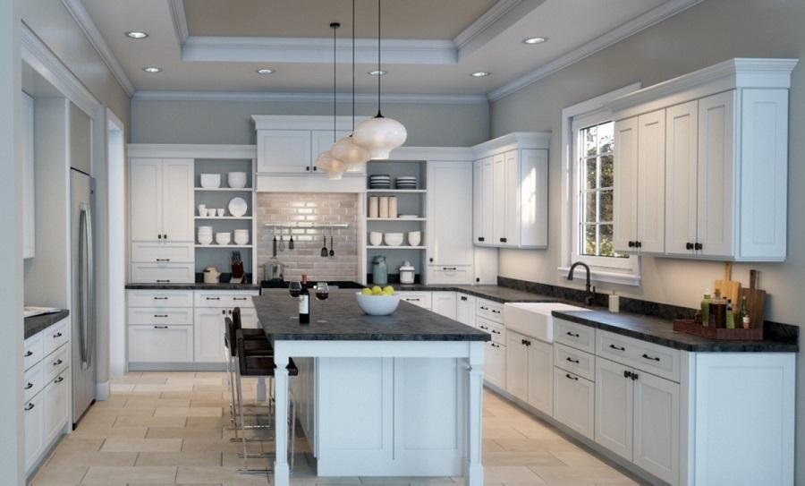 sherwin williams pure white cabinets