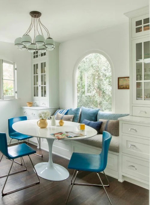 Banquette breakfast nook set