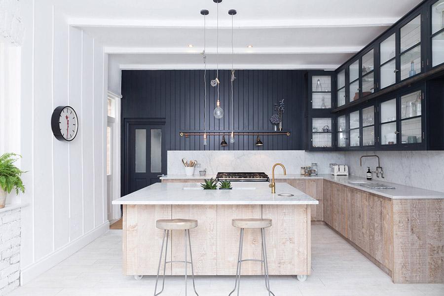 Metal frame kitchen cabinets