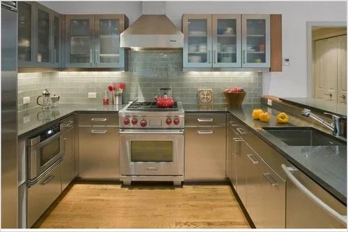 Metal kitchen cupboards