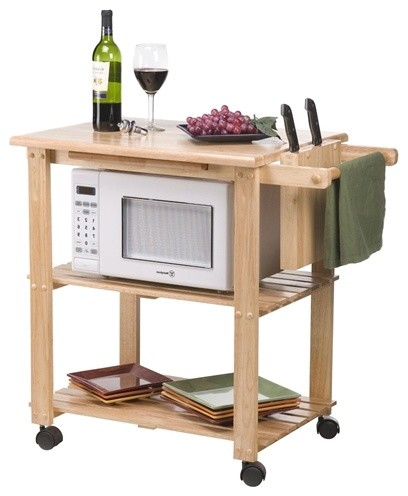 Rolling microwave cart