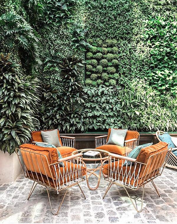 Stone patio design