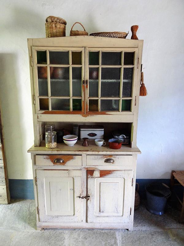 Vintage metal kitchen hutch