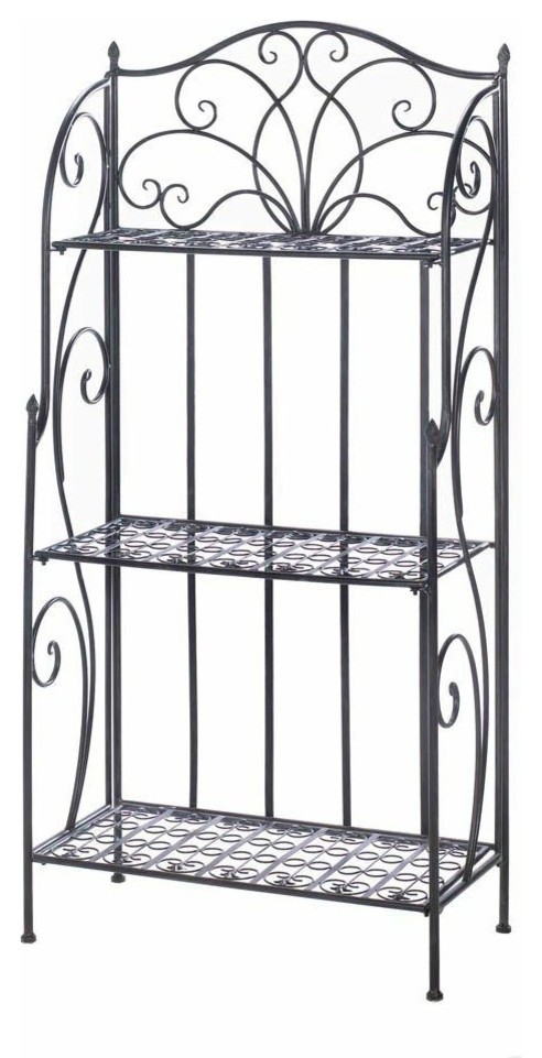 Wrought iron microwave stand