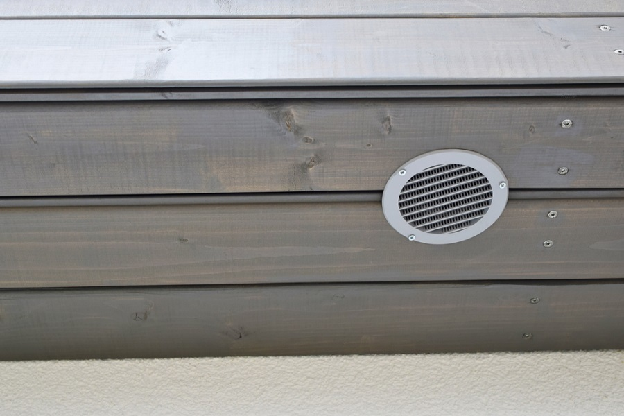 wooden vent cover