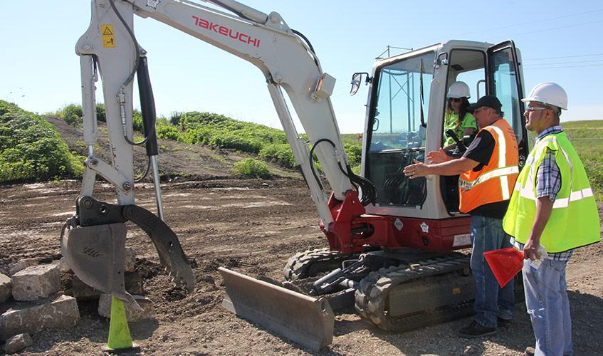 heavy equipment operating
