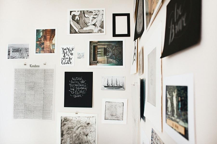 make a photo wall