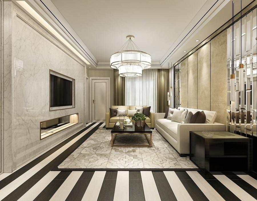 living room chandelier