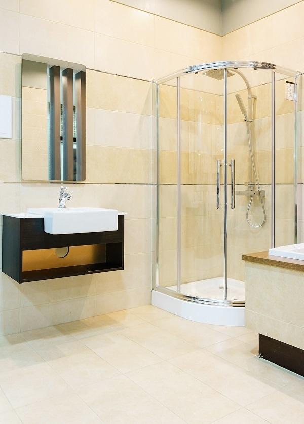 round shower enclosure