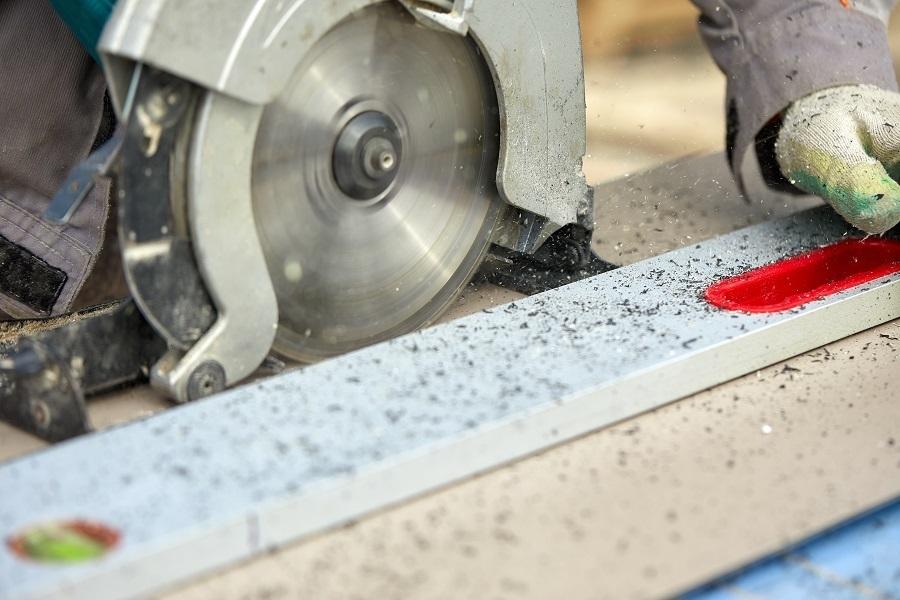 circular saw with DIY track