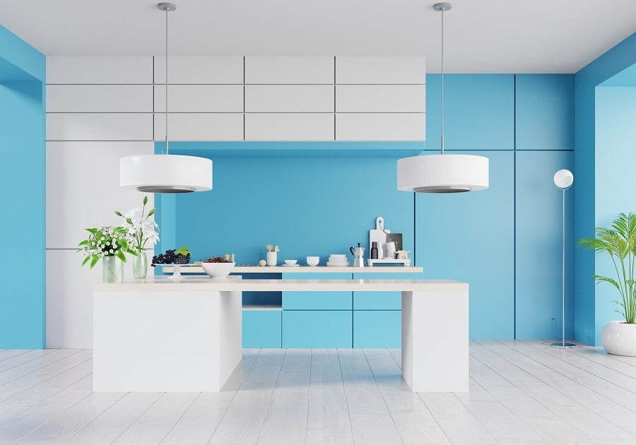 kitchen accent colors baby blue
