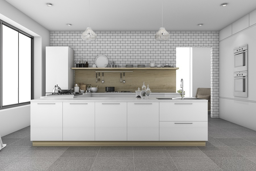kitchen tile accent wall