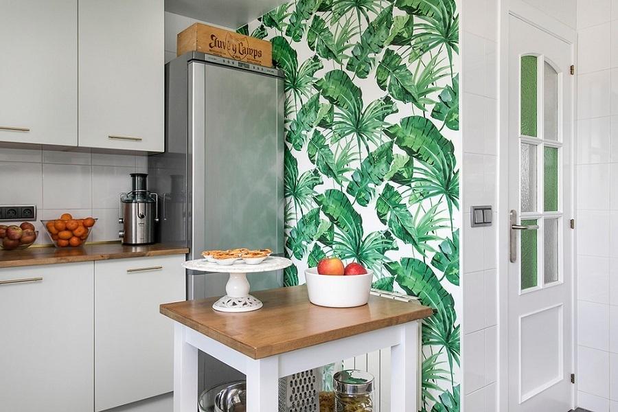 kitchen wallpaper accent