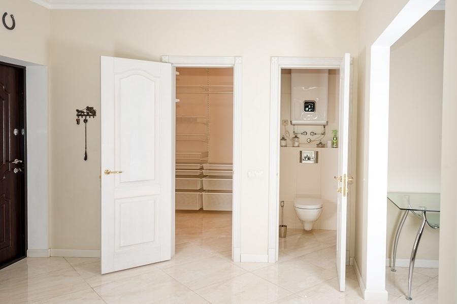 bathroom threshold vinyl floor