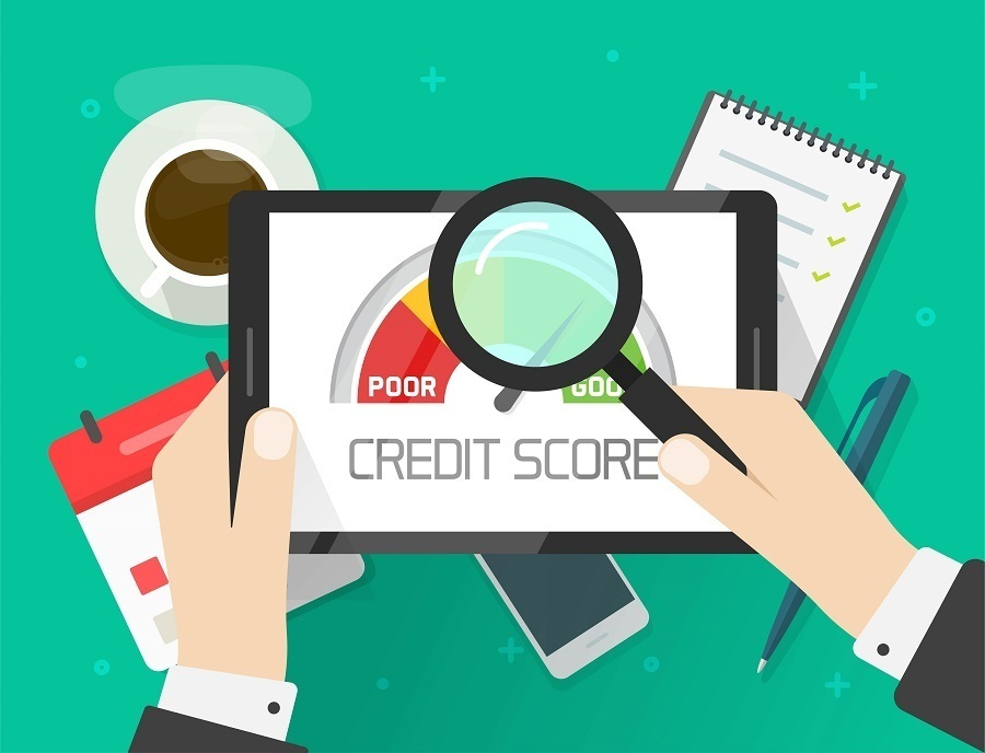 Credit score rating report