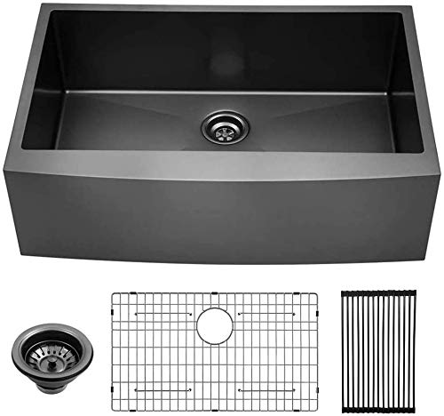 Black Stainless Farmhouse Sink