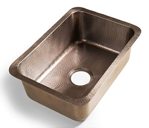 Monarch Abode Pure Copper Hand Hammered Single Bowl Kitchen Sink