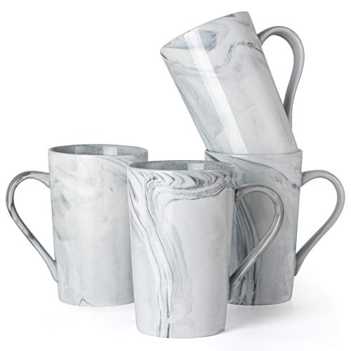12 oz Coffee Mugs Novelty Marble Ceramic