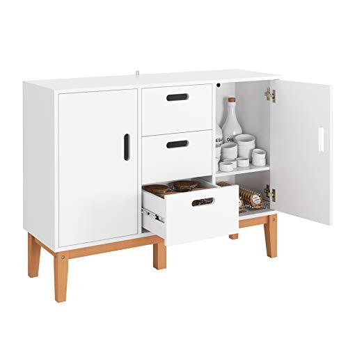 HOMECHO Wood Accent Cupboard Buffet