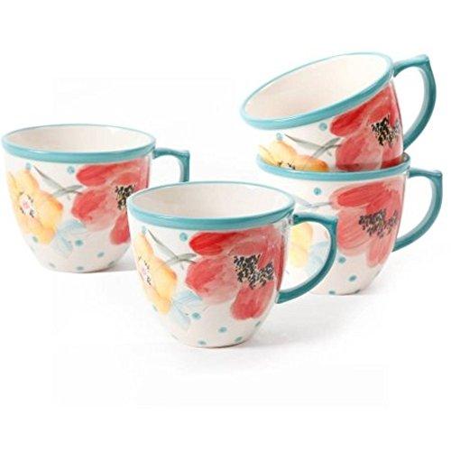 The Pioneer Women Flea Market Vintage Bloom 16 oz Coffee Cups