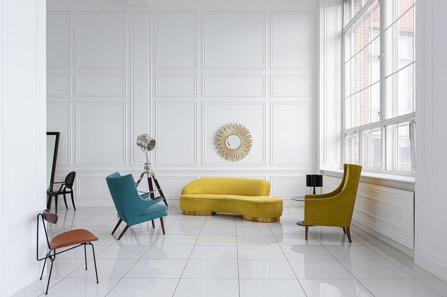 retro furniture colors