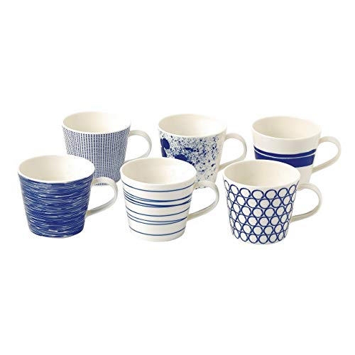 Royal Doulton Pacific Accent Mugs, Blue