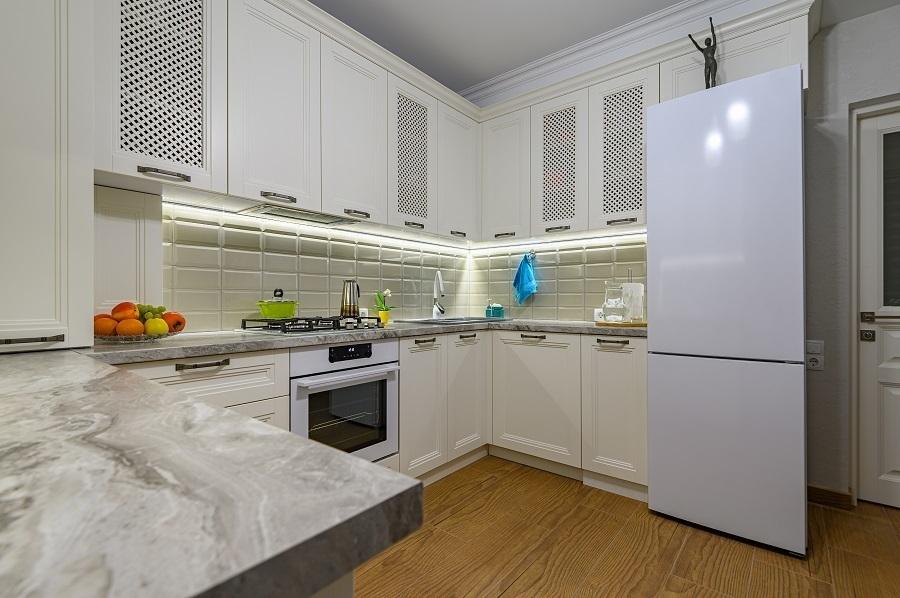 small open floor kitchen