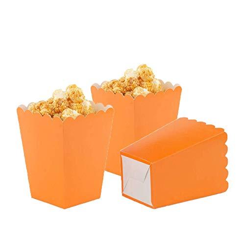 Aimtohome Orange Popcorn Boxes Mini Paper Popcorn