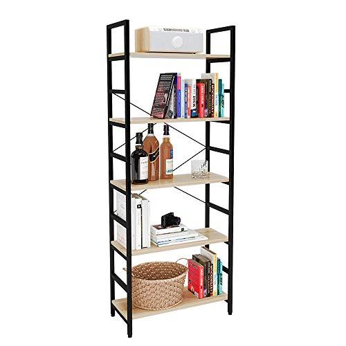 Bestier Bookshelf 5 Tier Bookcase Adjustable