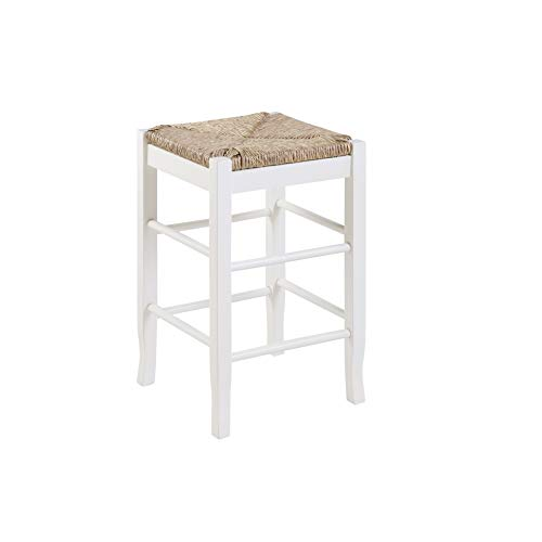 Boraam Square Rush Seat Counter Height Stool,
