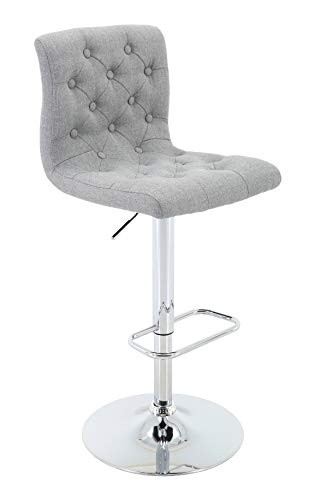 Brage Living Adjustable Height Bar Stool Tufted
