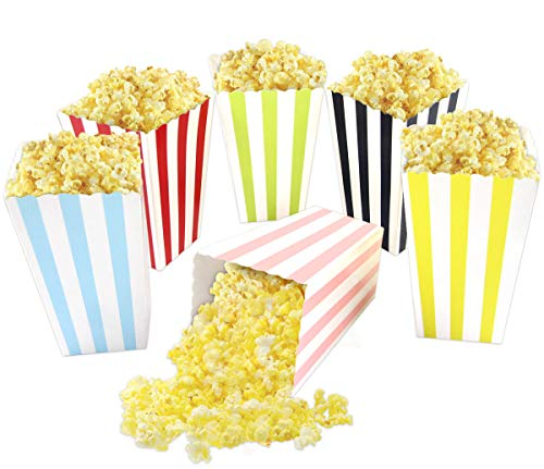Colorful Striped Popcorn Boxes Popcorn Bags