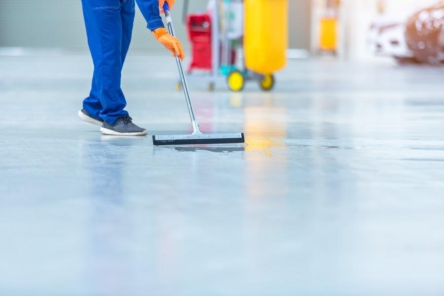 epoxy floor clean