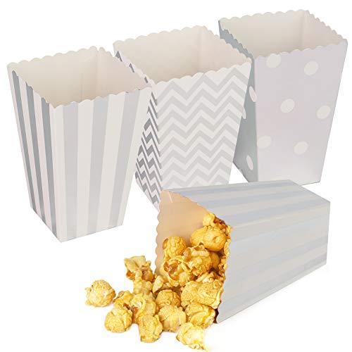 Hansgo Small Popcorn Boxes, 36pcs Striped Popcorn