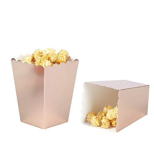 Rose Gold Popcorn Boxes Cardboard Container For