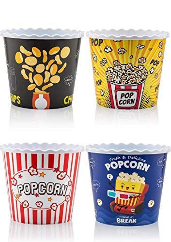 Modern Style Reusable Plastic Popcorn Containers /