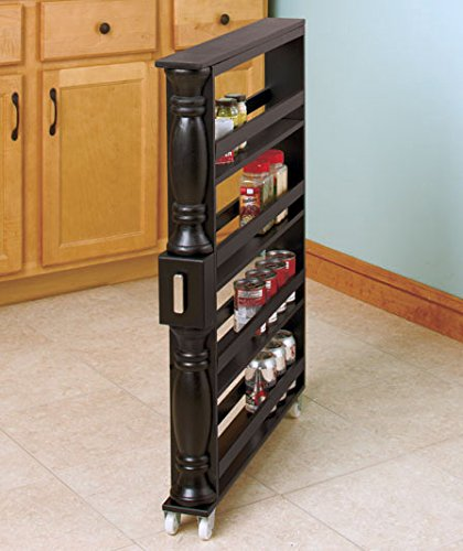 Wooden Can Organizer & Spice Rack - Slim Rolling