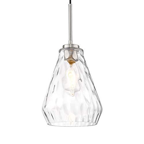 Autelo 1-light Pendant Light, Hammered Glass Shade