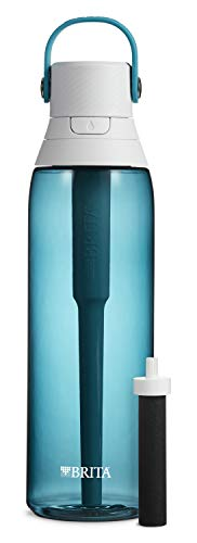 Brita Plastic Water Filter Bottle, 26 Ounce 1, Sea