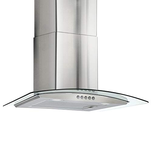 Recpro Curved Glass Range Hood | Vent Hood Kitchen